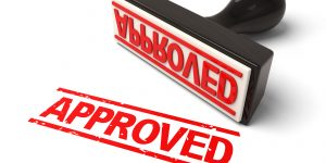 Approved stamp: Credentialing proces